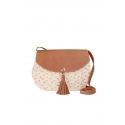 Beige eco-friendly crochet bag - Shoulder bag style