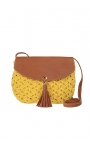 Yellow eco-friendly crochet bag - Shoulder bag style