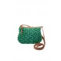 Small green eco-friendly crochet bag - Shoulder bag style