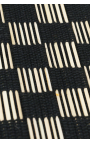 Black placemats handmade of coconut sticks
