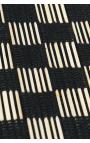 Manteles individuales artesanales de palitos de coco en color negro1