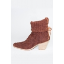 Handcrafted heeled ankle boots