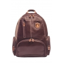 Leather rucksack with compartment for laptop