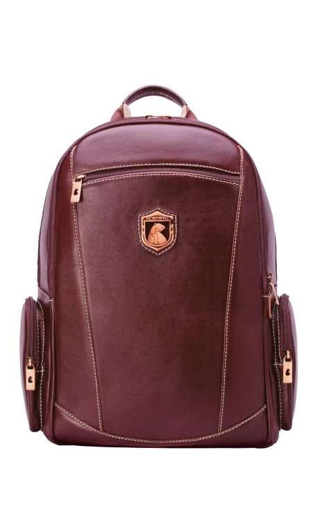 Leather executive rucksack