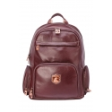 Leather backpack with compartment for laptop