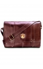 Leather men's bag for laptop