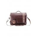 Leather men's bag for laptop