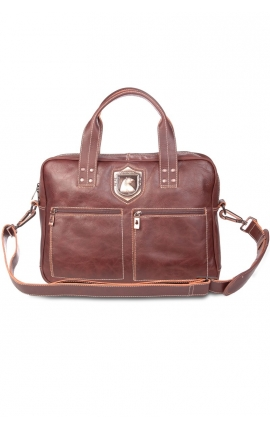 Leather work bag for laptop