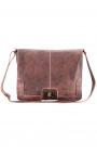 Men's leather messenger bag for laptop