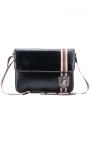 Compact leather men's bag for laptop