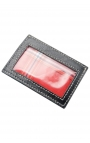 Compact leather card wallet