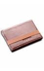 Men's leather wallet with elastic clasp