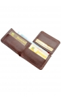 Compact leather wallet for men