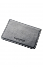 Compact men's leather wallet