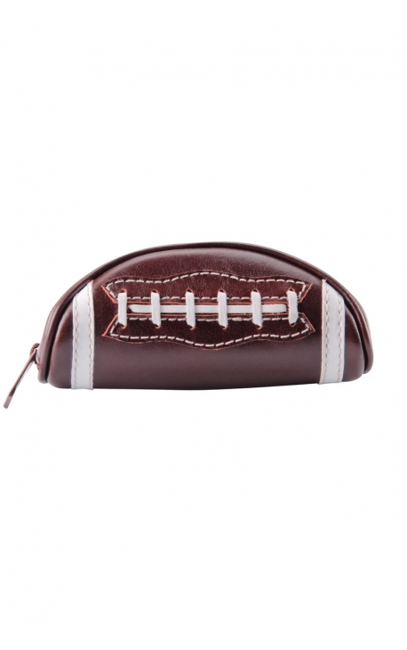 Leather case with zip