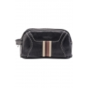 Leather sports toiletry bag