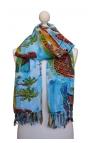 Pañuelo multiusos estampado estilo acuarela con motivos brasileños 1