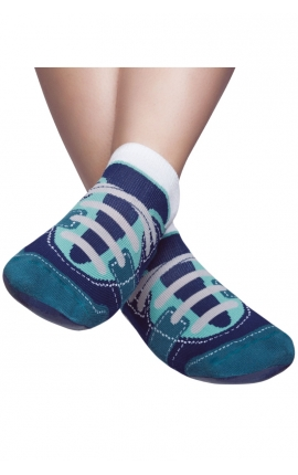 Non-slip grip pilates socks - Sport shoes print