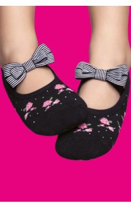 Non-slip socks - Roses print