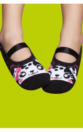 Non-slip socks with rubber sole - Kitten print