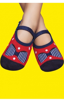 Non-slip socks for children - Ribbons print