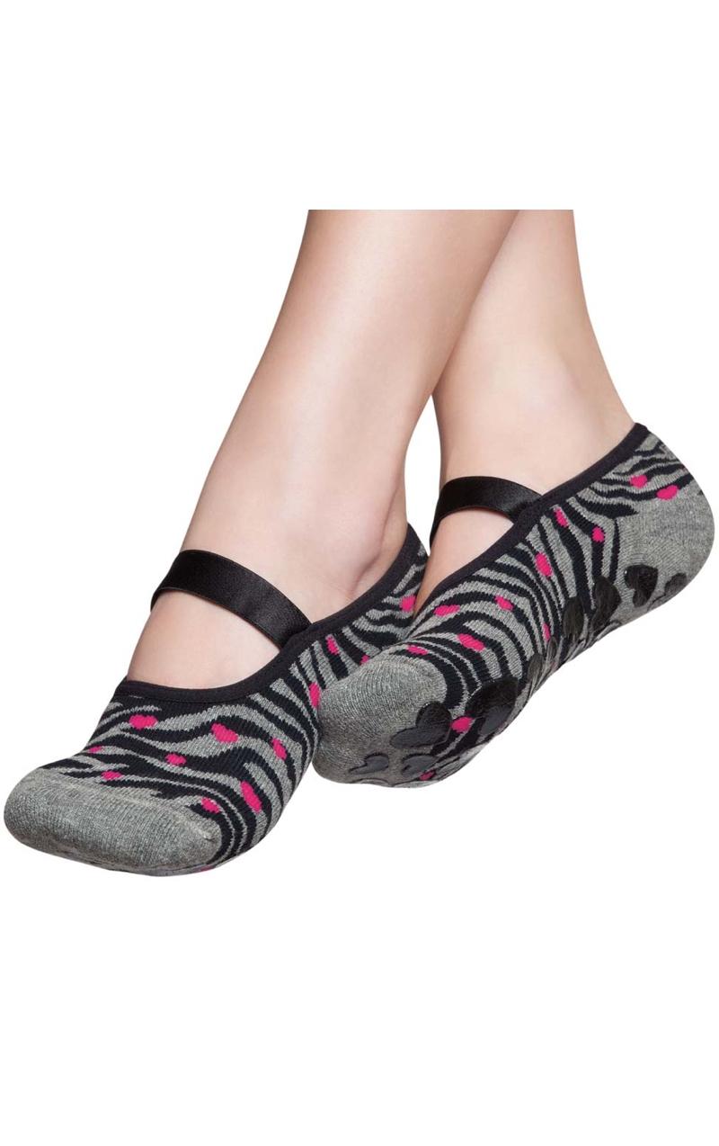 Non Slip Women S Socks Zebra Print