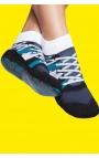 Calcetines antideslizantes adulto - estampado deportivas azules