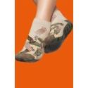Non-slip men's socks - Beige print