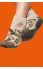 Calcetines antideslizantes hombre - estampado beige
