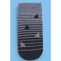 Calcetines antideslizantes hombre - estampado aletas de tiburón