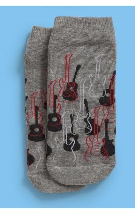 Calcetines antideslizantes para hombres - estampado guitarras