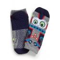 Non-slip men's socks - Robot print