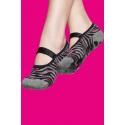 Non-slip women's socks - Zebra print