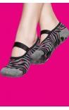 Calcetines antideslizantes mujer - estampado cebra 1