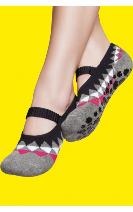 Non-slip yoga socks - Triangle print