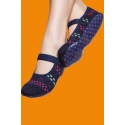 Non-slip socks with rubber sole - Navy blue