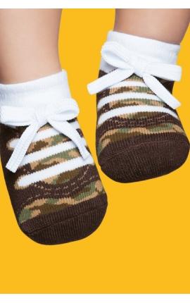 Zapatos calcetín con suela antideslizante - estampado deportivas