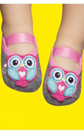 Non-slip socks for babies - Owl print