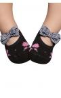 Calcetines antideslizantes bebé - estampado rosas 2