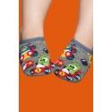 Zapatillas calcetín con suela de goma para bebés