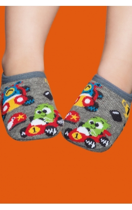 Non-slip socks with a rubber sole for babies