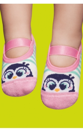 Calcetines antideslizantes bebé - estampado pingüinos