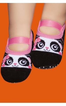 Non-slip socks for babies - Panda print
