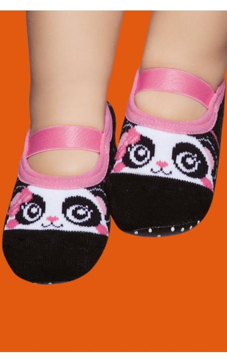 Calcetines antideslizantes bebé - estampado oso panda 1