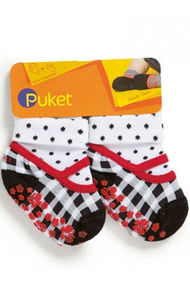 Socks with a non-slip rubber sole for babies