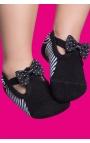 Zapatos calcetín con suela antideslizante para bebés - negro y blanco