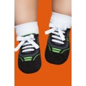 Non-slip socks with a rubber sole for babies - Sport shoes print