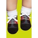 Calcetines con suela de goma para bebés - estampado deportivas