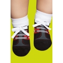 Grip socks with rubber sole for babies - Sport shoes print