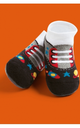 Socks with non-slip sole for babies - Sport shoes print